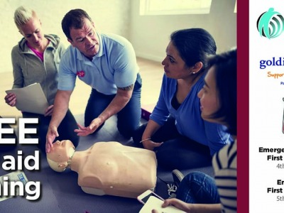 Free First Aid training sponsored by Golding Homes